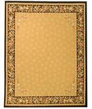RugStudio presents Due Process Aubusson Rennes Gold-Black Flat-Woven Area Rug